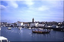 SC2484 : Viking replica boats, Peel Harbour by Colin Park