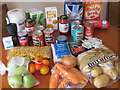TQ2081 : Government food parcel for coronavirus shielding by David Hawgood