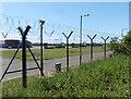 SS4934 : Perimeter fence, RMB Chivenor by Roger Cornfoot