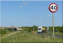 SK6636 : Stragglethorpe interchange by Alan Murray-Rust