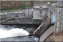 NN9357 : Pitlochry Power Station and Dam by Graeme Yuill