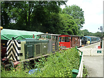 TR2548 : Stock at Shepherdswell, East Kent Railway by Robin Webster