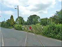 TR2648 : Level crossing gate, East Kent Railway by Robin Webster