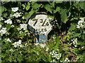 SK6736 : Canal milepost, Grantham Canal by Alan Murray-Rust