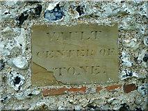 TR3051 : Vault marker stone, Tilmanstone church by Robin Webster