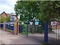 SX9392 : Exeter lockdown rainbow, St Michael's School, Heavitree, Exeter by David Smith