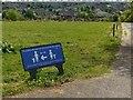 SK6142 : Carlton Cemetery – Covid-19 sign by Alan Murray-Rust
