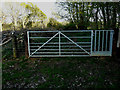 TR1943 : Gate between field and footpath by John Baker