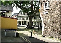TG2308 : Elm Hill as seen from Wagon and Horses Lane by Evelyn Simak
