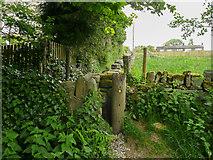 SE0028 : Stile on Wadsworth Footpath 75, Link 9 by Humphrey Bolton