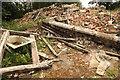 SK8963 : Sheep Walks Farmhouse ruins by Richard Croft