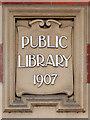 SD7806 : Radcliffe Library Datestone by David Dixon