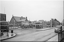 SJ6552 : Nantwich bus station – 1963 by Alan Murray-Rust