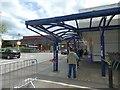 SJ8990 : Sainsbury's, Stockport, under lockdown by Gerald England