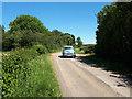 SP2106 : Morris Minor heading towards Eastleach by Vieve Forward