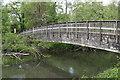SU7772 : Footbridge over the river Loddon by Simon Mortimer