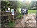 TQ2194 : Public not welcome in Moat Mount by PAUL WINNETT