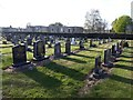 NZ2468 : Lines of graves, Hollywood Avenue Cemetery, Gosforth, Newcastle upon Tyne by Graham Robson