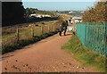 SX9778 : Coast path at Langstone Rock by Derek Harper