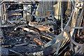 NT4937 : Fire damage at Heatheryett, Galashiels by Walter Baxter