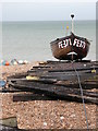 TR3752 : Deal Beach Fishing Boats by Nick Cotter