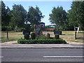 SE3327 : Millennium stone, Carlton village green by Stephen Craven