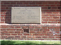 SE3427 : Former Rothwell primary school - foundation stone by Stephen Craven
