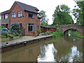 SK1608 : Canalside house in Whittington, Staffordshire by Roger  Kidd