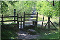 ST1395 : Stile on boundary of Parc Penallta by M J Roscoe