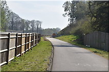 TQ6044 : Cycle path, Castle Hill by N Chadwick