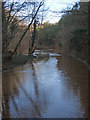 SS8777 : Flooded track just north of Candleston Castle by eswales