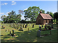 TL4146 : Fowlmere Cemetery on a summer morning by John Sutton