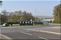 TQ6042 : Roundabout, Longfield Rd by N Chadwick