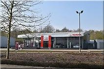 TQ5942 : Toyota (closed), Dowding Way by N Chadwick