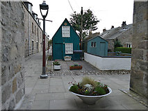 NJ9505 : South Square with sheds, Footdee, Aberdeen by Stephen Craven