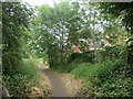 SE3021 : Public footpath heading east near Willow View by Christine Johnstone