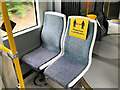SD7807 : Social Distancing Notice on Metrolink Tram by David Dixon