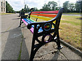 SD8010 : Rainbow Bench Outside Bury Town Hall by David Dixon
