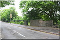 SK5903 : University Road at steps into cemetery by Phil Richards