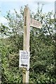 SO5530 : Unsafe footpath sign by John Winder