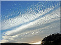 SN7453 : Evening sky north-west from Cw Doethie in Ceredigion by Roger  Kidd