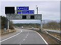 NT1075 : Sign Gantry on the Eastbound M9 near Kirkliston by David Dixon