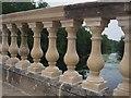 SK6273 : Restored balustrade on Clumber Bridge by Graham Hogg