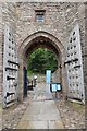 SJ5459 : The gates are open at Beeston Castle by Jeff Buck