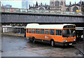 SJ8398 : Leyland National at Salford Victoria Bridge Bus Station by David Dixon