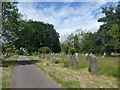 SX9393 : Gravestones and long grass, Exeter Higher Cemetery by David Smith