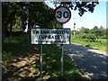 TG1417 : Swannington (Upgate) Village Name sign by Adrian Cable