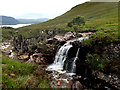 NG8758 : The Allt Toll a'Mhadaidh pours into the Abhainn Coire Mhic Nobuil by Andy Waddington