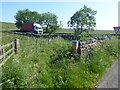 NY9279 : Reivers Cycle Route crossing of the A68 by Oliver Dixon