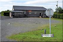 H5266 : Damaged road sign along Church Road, Laragh by Kenneth  Allen